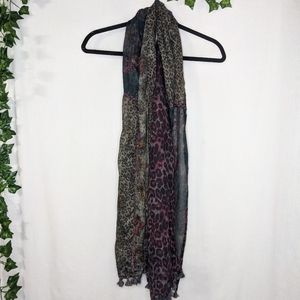 Free People Mixed Print Scarf